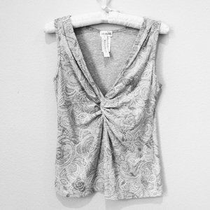 Arianne Gray and White Top from WHBM  M